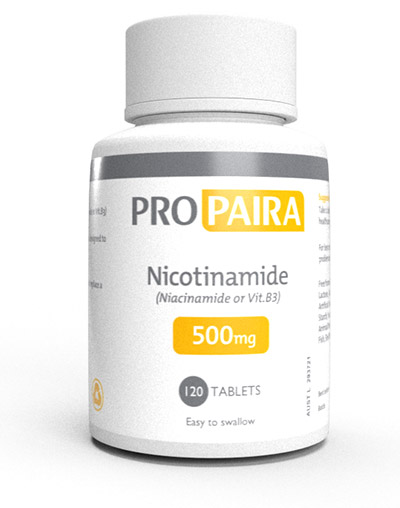500mg Tablet Niacinamide Bottle