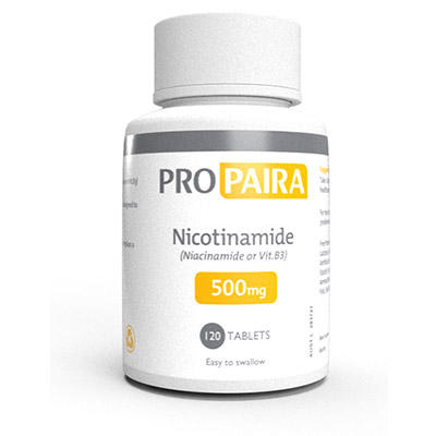 500mg Nicotinamide 120 Tablets (Niacinamide or Vit B3)