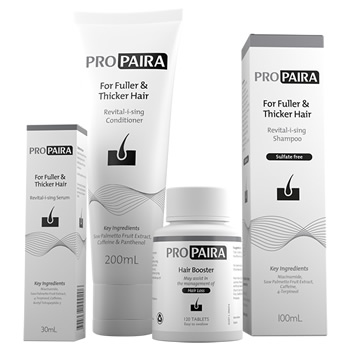 Propaira Hair Loss Shampoo 100ml, Conditioner 200ml, Serum 30ml & 120 Hair Booster Tablets for fuller and thicker hair