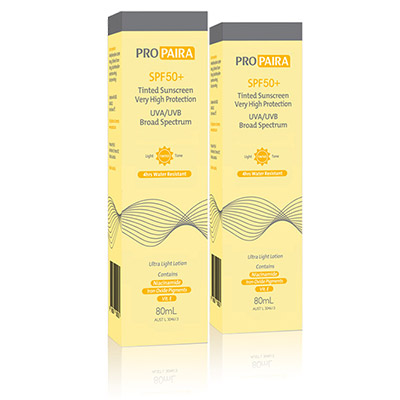 Propaira SPF50+ Tinted 80ml Light Tone x2