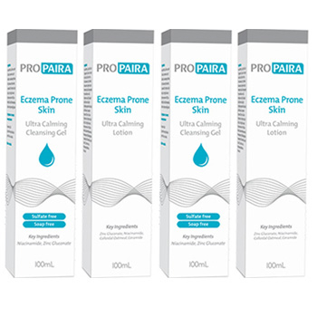 Propaira Eczema Ultra Calming Lotion 100ml x2 and Ultra Calming Cleansing Gel 100ml x2 (Double Combo)