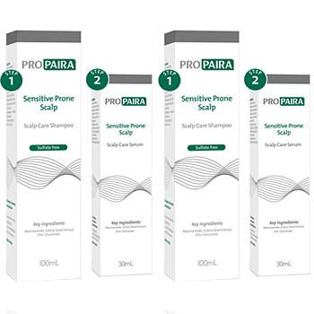 Propaira Sensitive Scalp Care Shampoo 2x 100ml and Propaira Leave On Serum 2x 30ml (Double Combo)